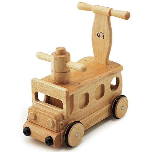 新型コロナでなかなか会えない孫が喜んだ!木製ブーブー